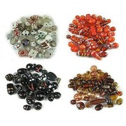 eshoppee Fancy glass beads for jewelery making and home decoration 300 gm mixing set