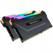 DDR4, KIT 16GB, 2x8GB, 2666MHz, CORSAIR, Vengeance RGB PRO black Heat spreader, RGB LED, CL16 (CMW16GX4M2A2666C16)