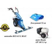 Motocultor BCS 615L MAX HONDA 5,5 CP cu freza de 52 cm