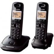 Bežični telefon Panasonic KX-TG2512FXT crni, 2 slušalice