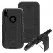 iPhone X Belt Clip Hybrid Case - Black