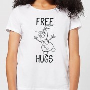Frozen Olaf Free Hugs Dames T-shirt - Wit - L - Wit