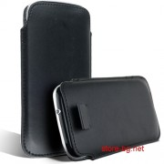 Samsung I9300 Galaxy S III Кожен Калъф Черен