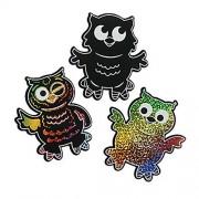 """24 ~ Magic Color Scratch Owls ~ 4"""" x 4 1/4"""" ~ 24 Owls + 24 Scratching Tools ~ New"""