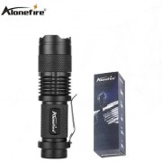 Original Brand Alonefire Zoomable 7W Powerful Flashlight Torch ( Metal ) with 3 Modes Q5 LED