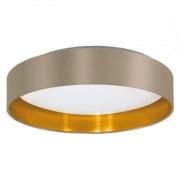 LED lámpatest , mennyezeti , 16W , meleg fehér , acél , tópszín , arany, EGLO , MASERLO , 31624