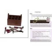 Dollhouse Miniature Tool Box With 8 Tools