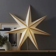 Randi star, paper, white and gold