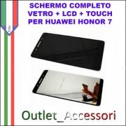 Display Schermo Completo Huawei HONOR 7 LCD TOUCH PLK-CL00, PLK-UL00, PLK-TL00, PLK-TL01H, PLK-L01 NERO
