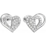 Evolution Group Cercei de argint cu inima alb zircon 11115.1