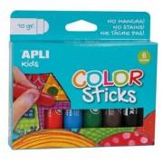 Tempera stift készlet, APLI Kids, 6 különböző szín (LCA14227)