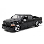 2014 Dodge Ram 1500 Pick Up Truck Black Custom Edition 1/24 by Jada 54040