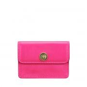 Maxwell-Scott pinker Damen Leder Visitenkartenhalter- Portofino Nappa