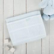 Paturica celulara din bambus 90x60 cm Comfi Love Baby Blue 844272