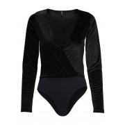 ONLY Fluwelen Body Dames Zwart / Female / Zwart / XL