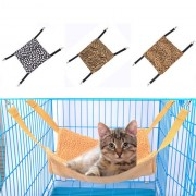 Soft Fleece Cat Hammock Bed Hanging Winter Warm Ferret Rabbit Hamster Cage Bed Mat For Small Pet Bed