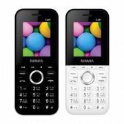 Niamia CAD 1 Basic Keypad Feature Mobile Phone Combo (Black / White)