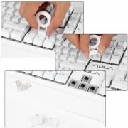 Teclado Profesional AULA USB Gaming 104 Teclas Retroiluminación LED Para PC SI-890 - Blanco