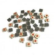 Interruptores de contacto DC 12V 50ma mini - negro (paquete de 50 piezas / 6 x 6 x 3.1mm)
