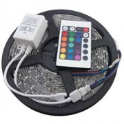for Diwali and Christmas Lighting RGB Remote Control LED Strip Light Colour Changing (Multicolour)