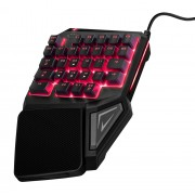 TRUST GXT 888 Assa Single Handed Keyboard [22881] (на изплащане)