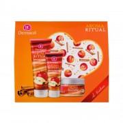 Dermacol Aroma Ritual Apple & Cinnamon set cadou gel de duș 250 ml + exfoliant de corp 200 g + cremă de mâini 100 ml pentru femei