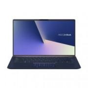 "Лаптоп Asus UX433FN-A5087T (90NB0JQ1-M04390)(син), четириядрен Whiskey Lake Intel Core i7-8565U 1.8/4.6 GHz, 14.0"" (35.56 cm) Full HD Anti-Glare Display & GF MX150 2GB, (HDMI), 8GB, 256GB SSD, 1x USB 3.1, Windows 10 Home, 1.09 kg"