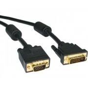 FAST ASIA Kabl DVI-I (M) - VGA (M) 2m crni