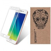 Boxwant Oppo A57 White Tempered Glass