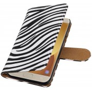 AA-Case Wit Book Case Zebra design Samsung Galaxy J5 (2017) J530F