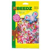 Set creativ cu margele asortate pentru fetite 3000 buc. SES