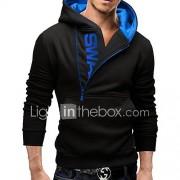 Heren Actief Eenvoudig Street chic Sportief Hoodie Jacket Letter U-hals Micro-elastisch Katoen Lange mouw Herfst Winter