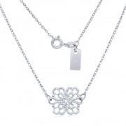 Silvego Stříbrný náhrdelník s přívěskem ornament květu - SMJN01GH6