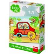 Puzzle de podea - Safari 24 piese