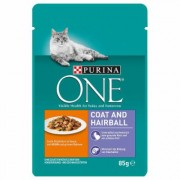 Purina ONE Coat & Hairball - 12 x 85 g con Pollo e Fagiolini