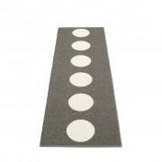 pappelina Vera Outdoor-Teppich - charcoal / vanille 70 x 225cm