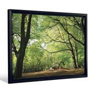 """JP London FCNV2217 Framed Gallery Wrap Heavyweight Canvas Art Wall Decor (Peaceful Shady Spring Sunny Forest at 20.375"""" High x 26.375"""" Wide x 1.25"""" Thick)"""