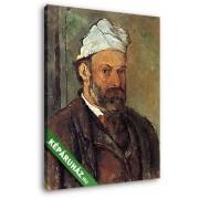 Paul Cézanne: Cézanne önarckép, fehér turbánnal (20x25 cm, Vászonkép )
