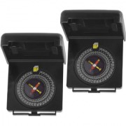 2 Piece Military Hiking Camping Lens Magnetic Compass - PS35