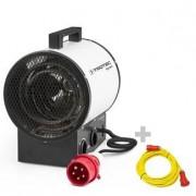 TROTEC Calefactor eléctrico TDS 30 R + Cable alargador profesional de 20 m / 400 V / 6 mm²