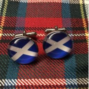 Saltire Cufflinks Scotland Scottish Flag