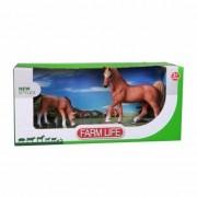 Geen Plastic arabier paard met veulen
