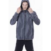 Rostock férfi antracit szürke kapucnis széldzseki XL Scitec Nutrition