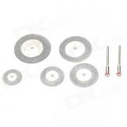 WLXY WL-6-1 7-en-1 carborundum + kits de hoja de sierra de corte de acero inoxidable-plata