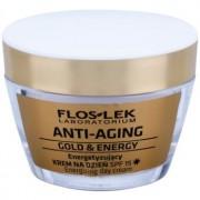 FlosLek Laboratorium Anti-Aging Gold & Energy crema de zi energizanta SPF 15 50 ml