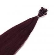 Rapunzel® Hair extensions Bondings Original Glatt 6.12 Dark Mahogany Brown 30 cm