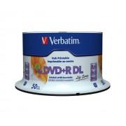 "DVD+R VERBATIM 8.5 GB, 240 min, viteza 8x, Double Layer, spindle, printabil, ""Wide Inkjet Printable"", 50 buc/set"