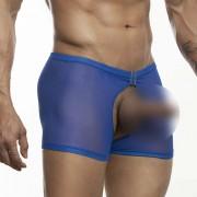 Miami Jock Open Crotch Boxer Brief Underwear Royal Blue 030817