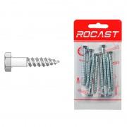 Holz-surub cu cap hexagonal din 571, otel, zincat - 6 x 60 - [8 buc]