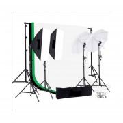 Kit Fotografico Estudio Profesional Fotografia Sombrillas Set Softbox